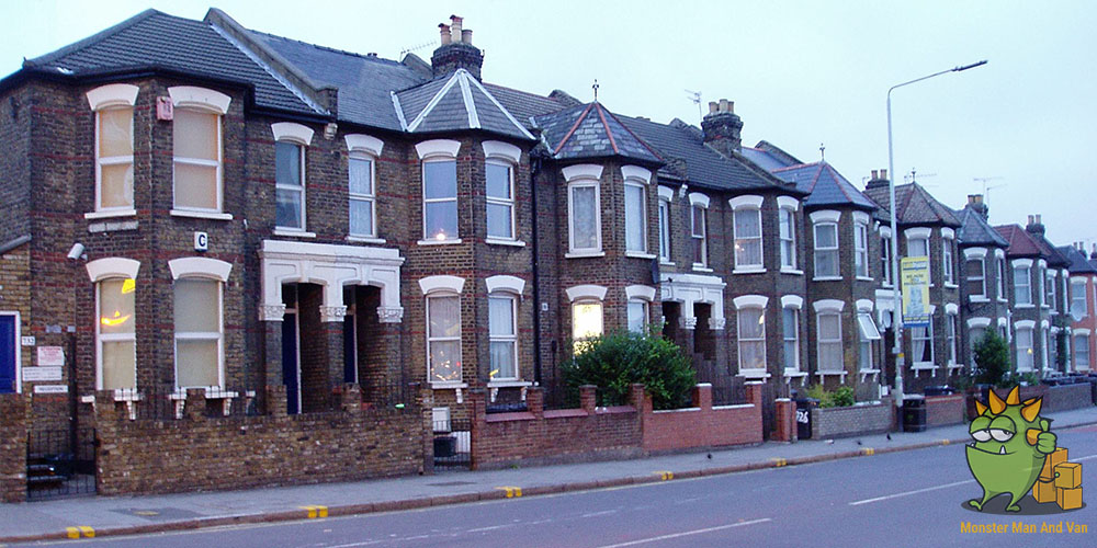 Row of London homes